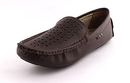 dfb6068696 FOX HUNT Leather Look Men Brown Casual Loafer Shoes 7  Buy Online at Low  Prices in India - Amazon.in