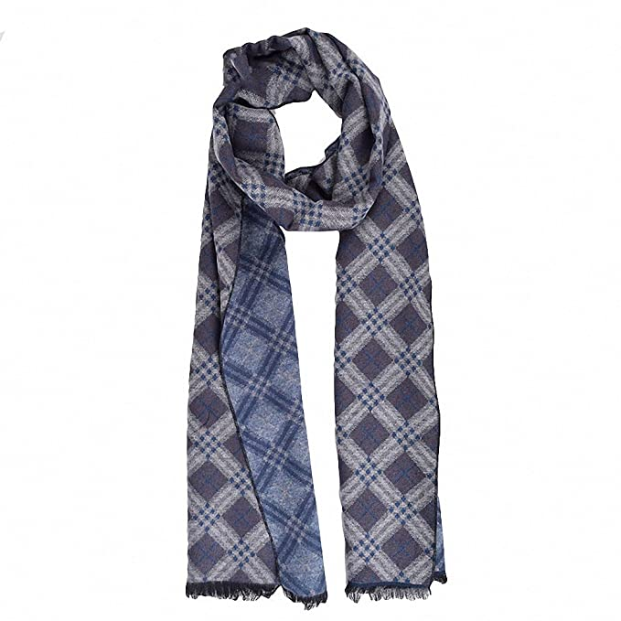 8d8ee44ec3d1f Lictory Luxury Men Scarf Mufflers Business Style Men's Scarves Neckerchief  For Male Winter Shawl Pashmina Blue