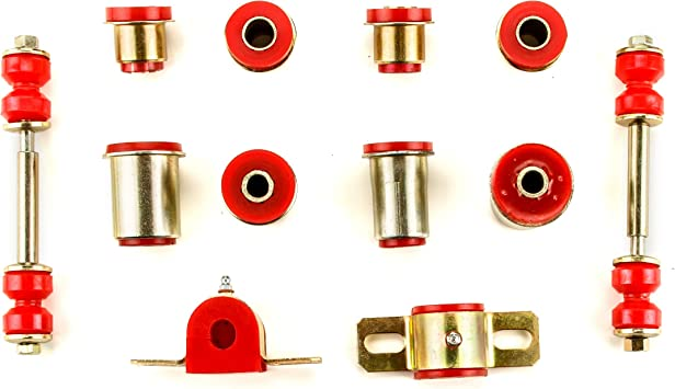 27 Piece Kit Andersen Restorations Red Polyurethane Front End Suspension Master Rebuild Kit Compatible with Chevrolet Chevelle//El Camino OEM Spec Replacements