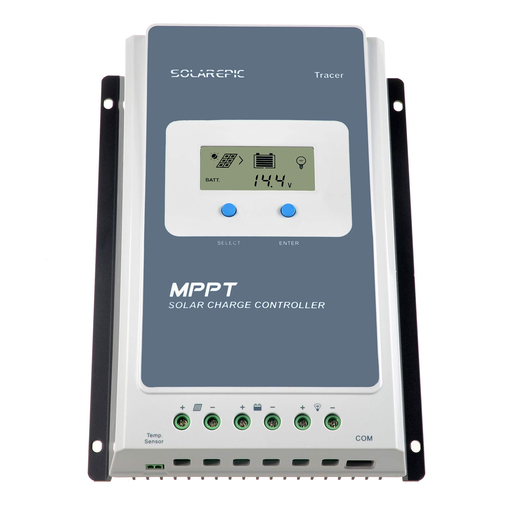EPEVER 40A MPPT Solar Charge Controller 100V Input Tracer 4210AN with Display Negative Ground Lithium Battery Charger Work with LiFePO4 by SolarEpic