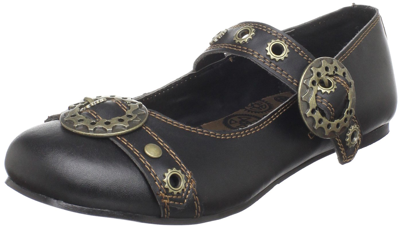 Pleaser Demonia by Women's Daisy-09 Mary-Jane Flat B003HVP2W0 11 US/Medium M US|Black Polyurethane