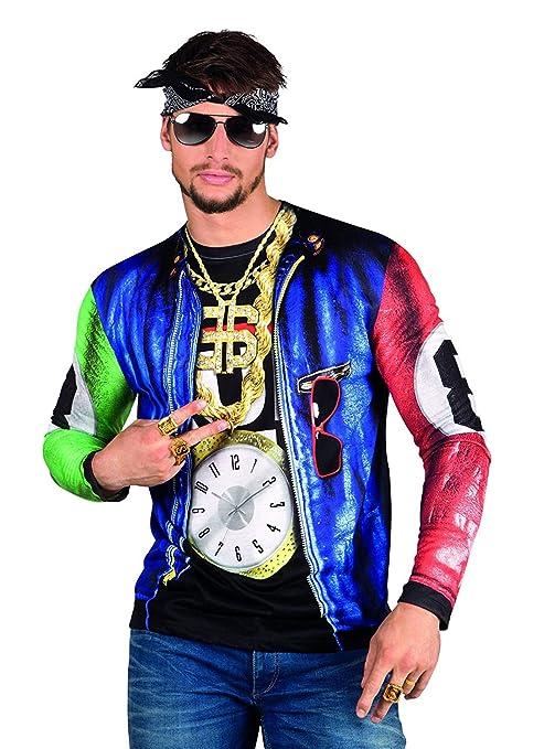 e7991c57d266a Boland Rapero Gángster Disfraces fotorrealista T-Shirt - Mens extra de gran  tamaño
