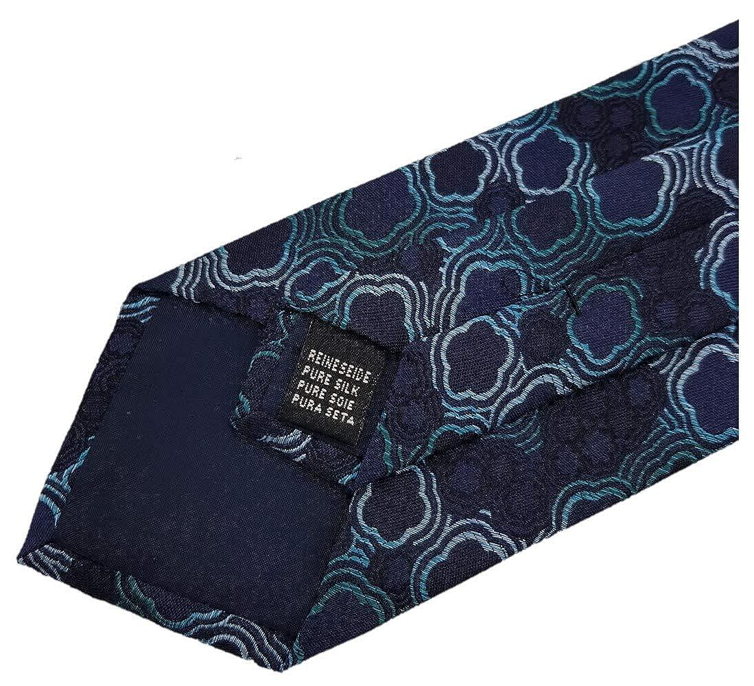 Krawatte Seide 8 cm Kreise:Azul Silk Ties corbata de seda Puntos y Circulos 8 cm