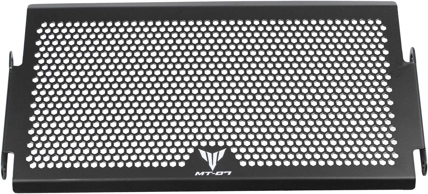 Pceewtyt Motorcycle Radiator Protector Grille Grill Guard Cover Protective Cover Fit for MT 07 MT-07 MT07 FZ07 FZ 07 XSR700 2014-2017 Steel Black