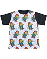 Sublimation Youth Black Back Cool Cat Garfield T-Shirt