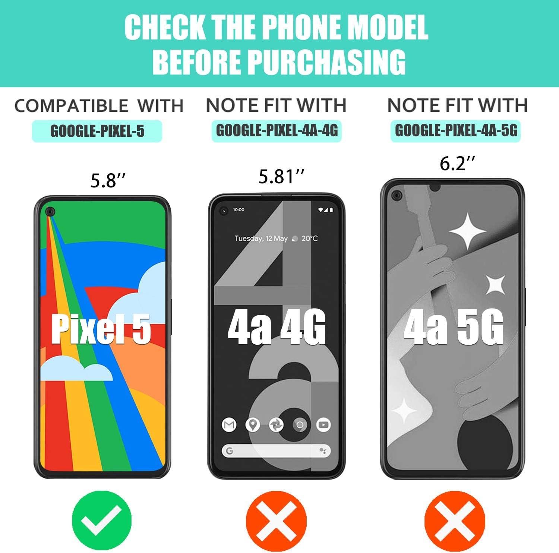Luibor Funda Google Pixel 5,Absorci/ón de Golpes Anti-Rasgu/ños Suave Esmerilado Funda Protectora para Negro Mate para Google Pixel 5