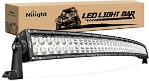 LED Light Bar Nilight 42Inch 240W Curved LED Work Light Spot Flood Combo LED Lights Led Bar Driving Fog Lights Jeep Off Road Lights, 2 Years Warranty