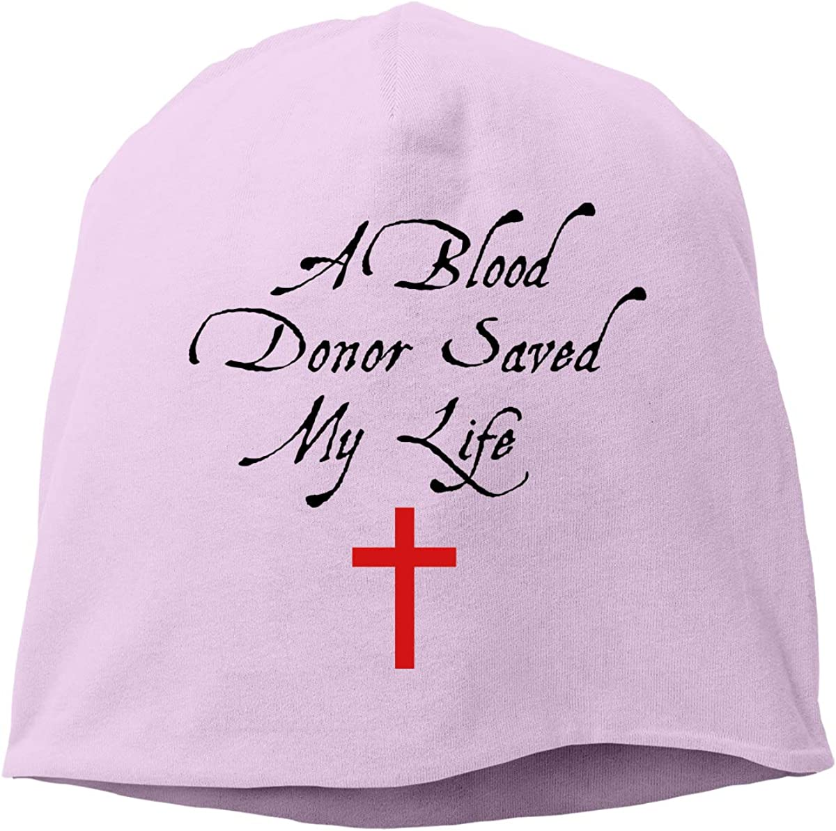 A Blood Donor Saved My Life Fashion Chrismas Knitted Hat Fashion Funny Cotton Hat