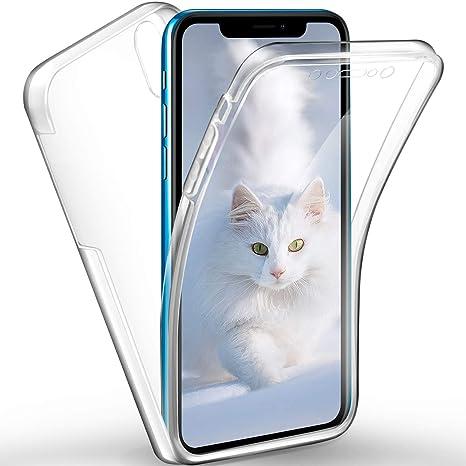 SpiritSun Funda para Huawei Honor 8X, Transparente Carcasa con 360 Grados Protector Silicona Case para Huawei Honor 8X Flexible Gel TPU Bumper Tapa ...