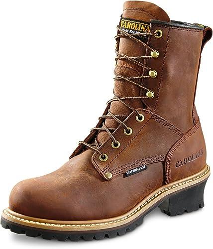 carolina boots: men's 8 inch waterproof logger boots