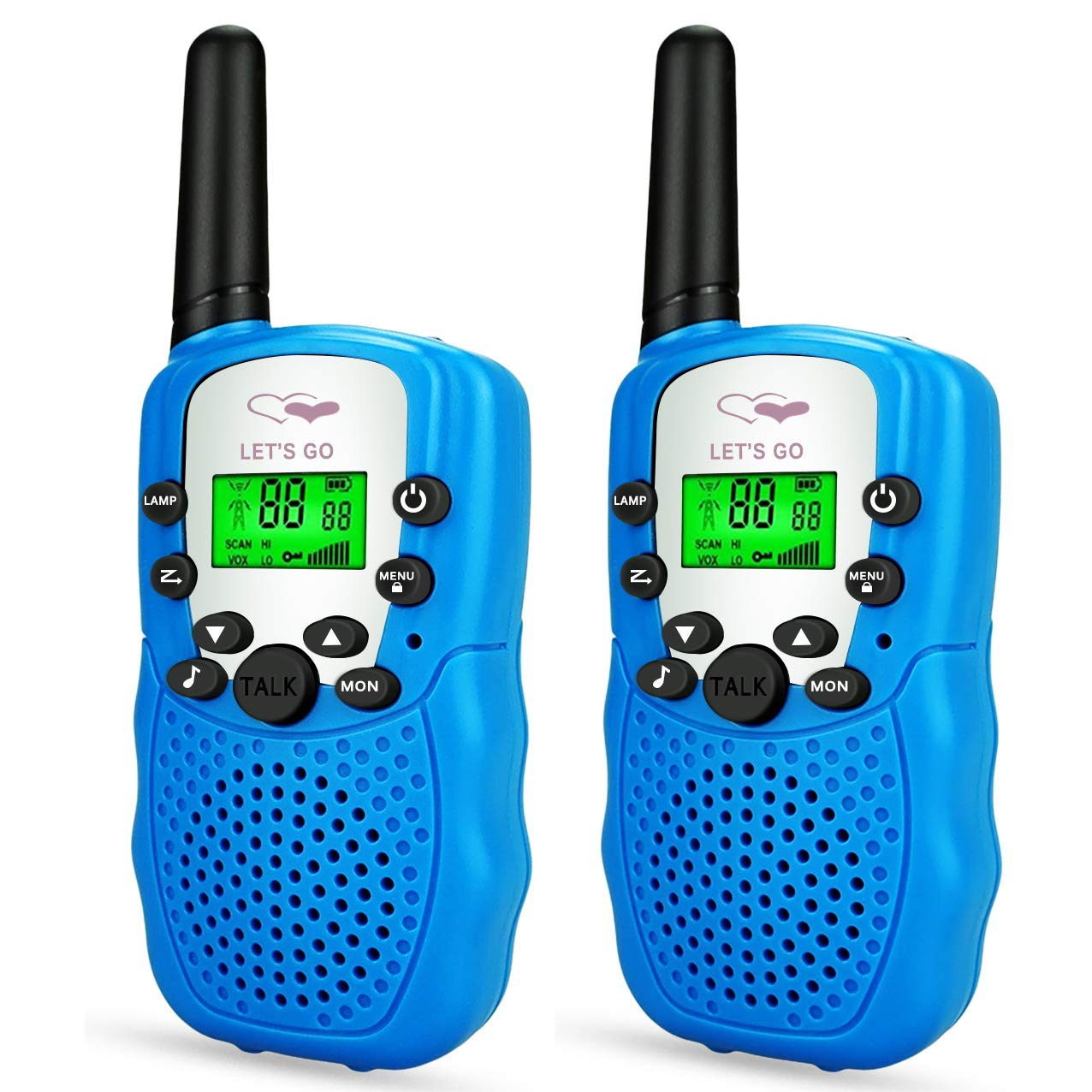 TOP Gift Toys for 3-12 Year Old Kids, Handheld Walkie Talkies for Kids 2 Mile Range Hallowee Gifts for Boys Girls Kid 2018 Christmas New Gifts for Kids Boys Girls 3-12 Stocking Fillers Blue TGDJ02 by Dreamingbox
