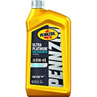 Pennzoil Ultra Platinum Full Synthetic 0W-40 Motor Oil (1 Quart, Case of 6)
