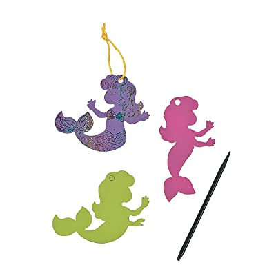 Pastel Magic Scratch Mermaids - Crafts for Kids and Fun Home Activities: Toys & Games