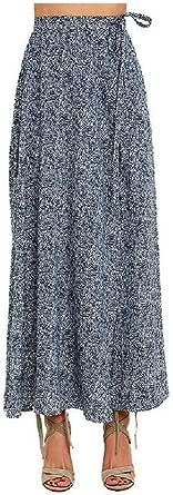 DressUWomen Split Flowy Skinny Beachwear Asymmetric Hem Maxi Skirt