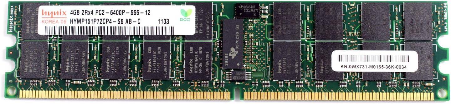 Lot Of 2 4GB Hynix  Server Memory HYMP151P72CP4-S6 AB RAM DDR2-800 2Rx4