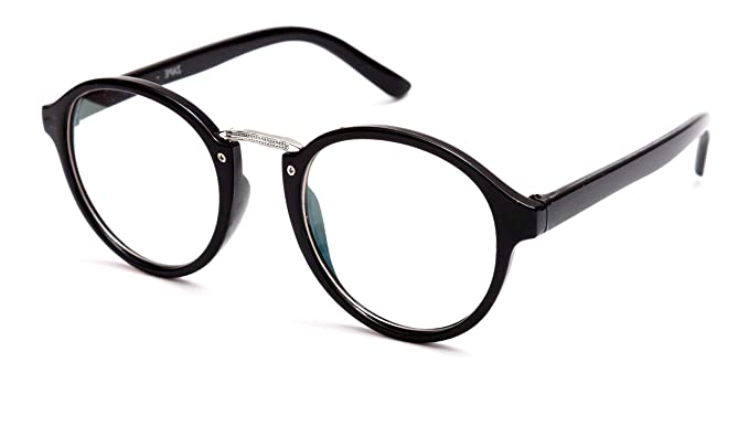 775dd9d0fc9 Image Unavailable. Image not available for. Colour  TheWhoop Black Round Spectacle  Frame Eye Glasses For Men Women ...