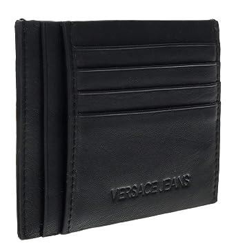 c67de06f69f Amazon.com: Versace EE3YSBPF4 E899 Black/Navy Card Holder Wallet for ...