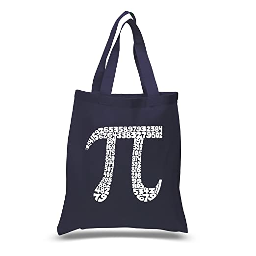 Amazon Small Navy Pi Word Art Tote Bag Created Using The