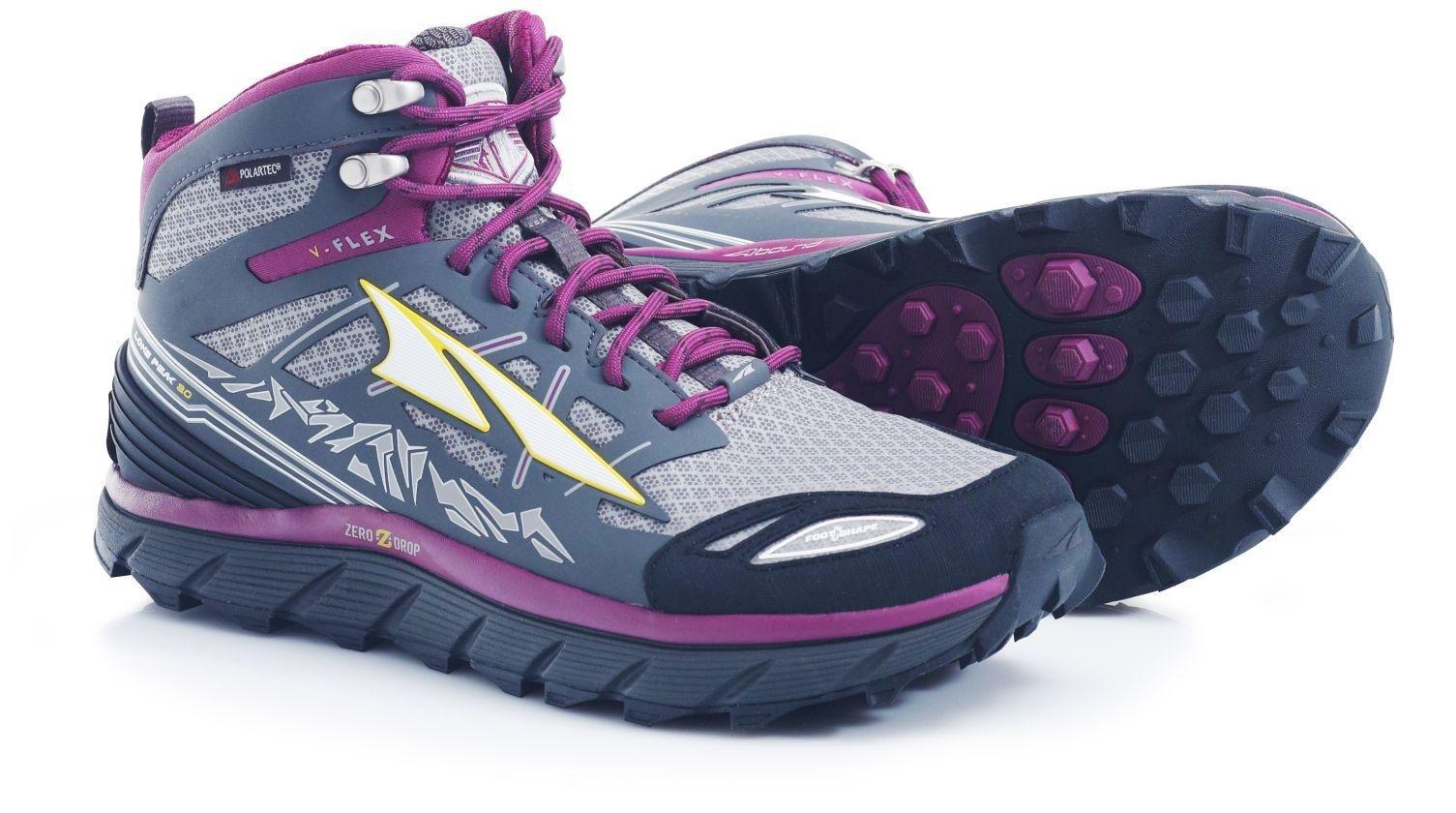 Altra Lone Peak 3.0 Mid Neo Shoe - Women's Gray/Purple 7.5