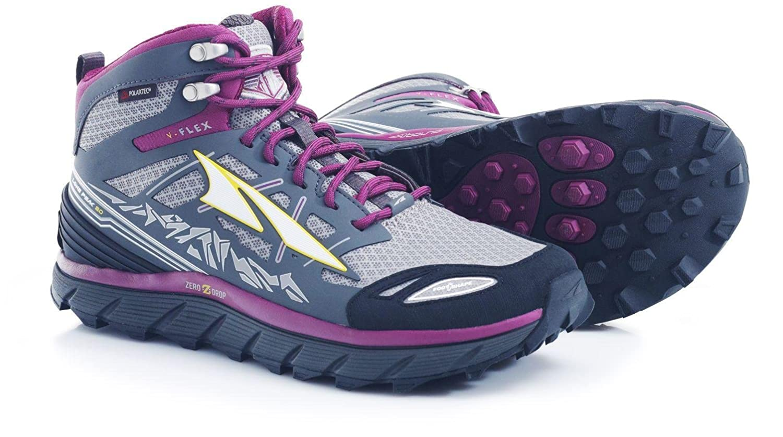 Altra Lone Peak 3 Mid Neo Running Shoes - Women's B01B72JVXG 5.5 B(M) US|Gray/Purple