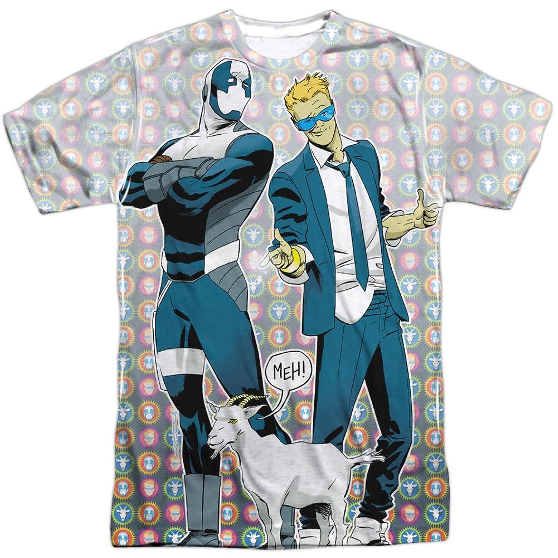 Quantum & Woody Comics Superhero Duo Bros & Goat Adult Front Print T-Shirt