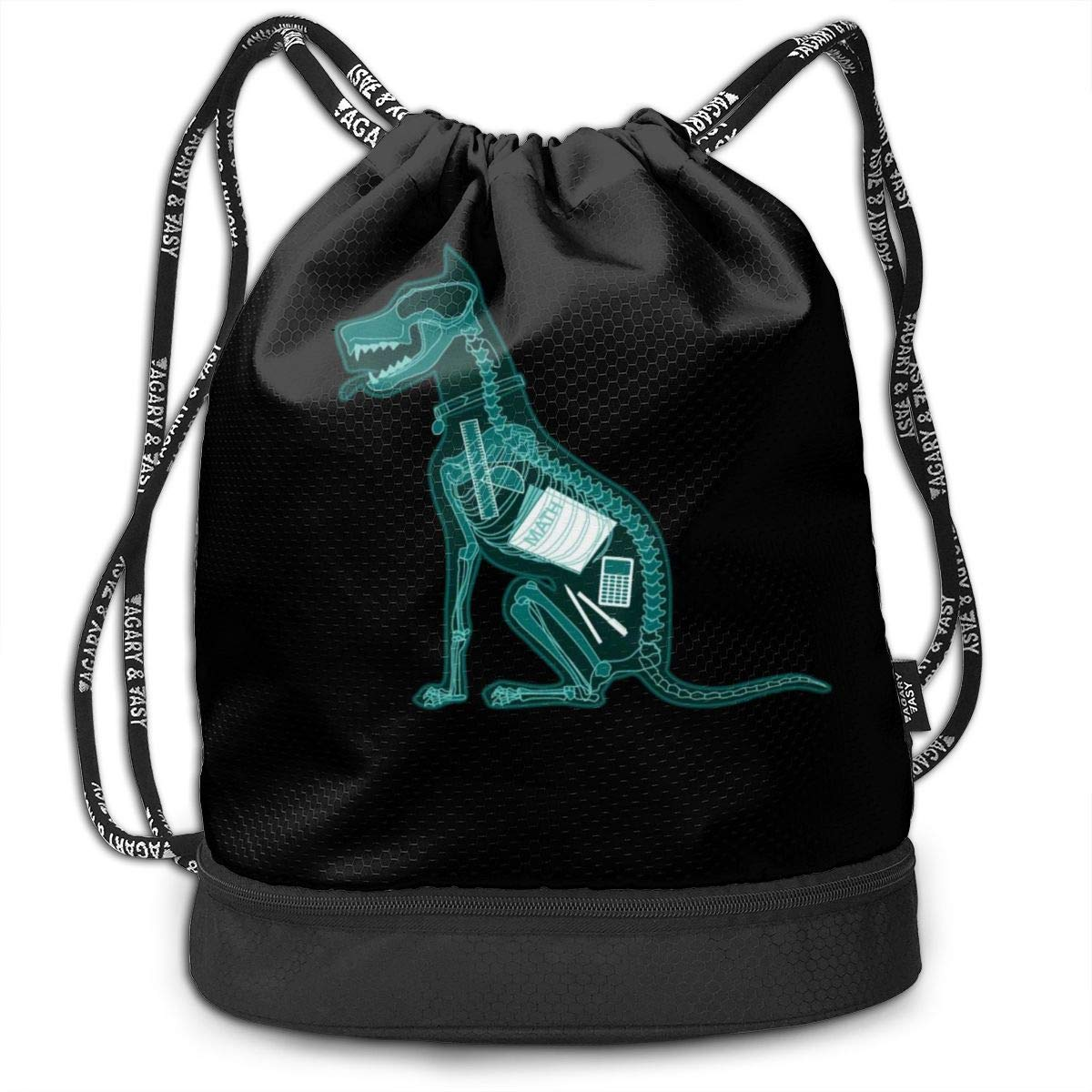 Drawstring Backpack DOG MATH Bags Knapsack For Hiking