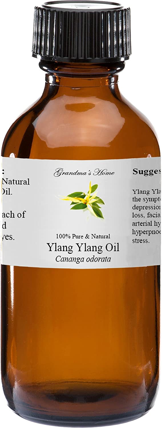 Ylang Ylang Essential Oil - 2 fl oz -100% Pure and Natural - Therapeutic Grade - Grandma's Home