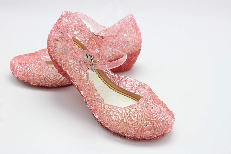Biofieay M/ädchen Fancy Schuhe Kinder Prinzessin Dress Up Jelly Sandalen f/ür Cosplay Party Geburtstag Weihnachten