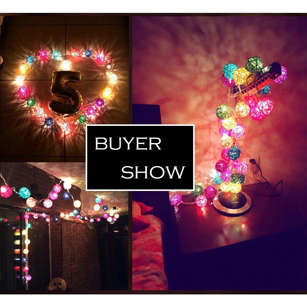 Purple 9.8 Feet 20 tungsten filament Ball Fairy String Lights Plug in Flexible Romantic Warm Lighting for Home Decor Dende