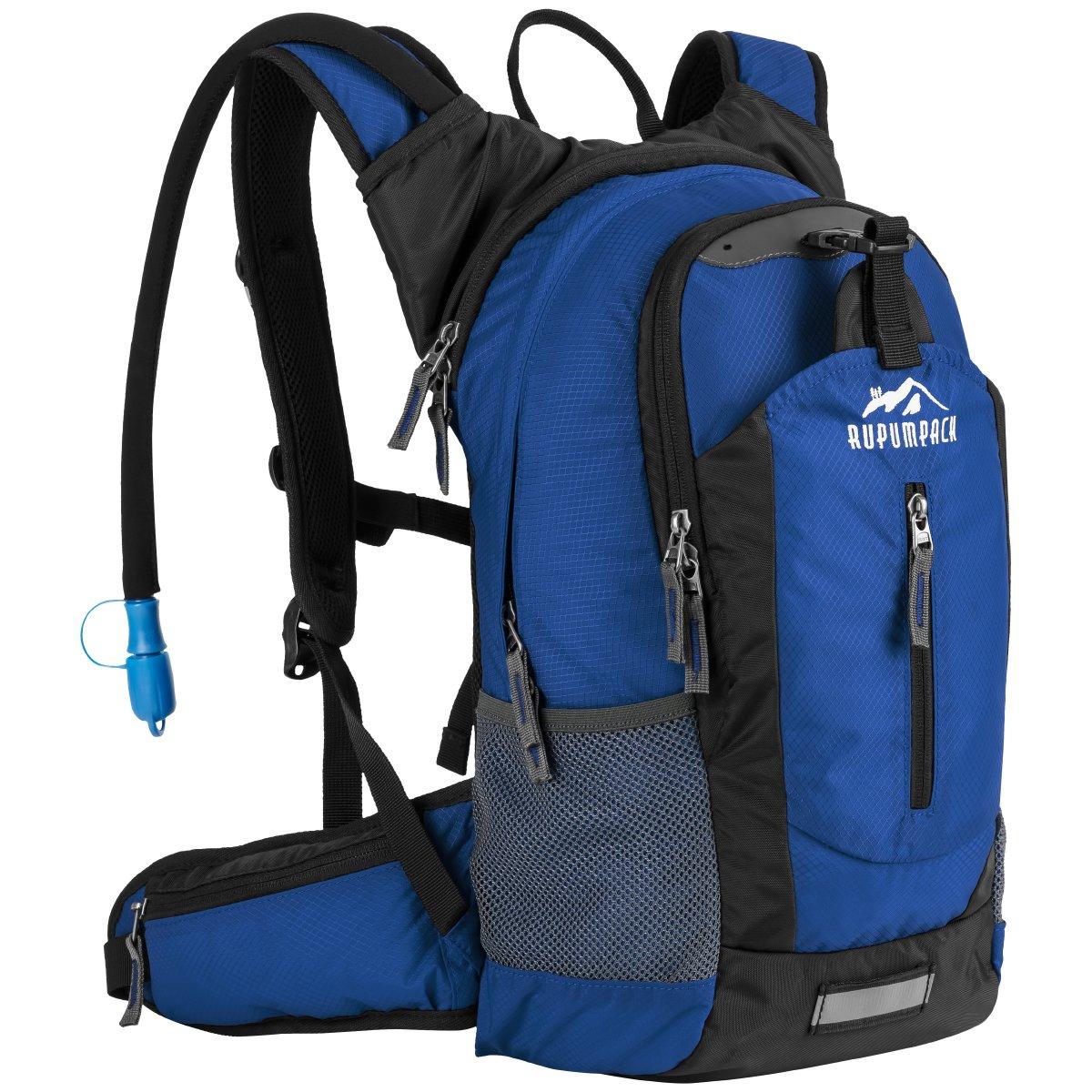 Senderismo mochila Pack de Hidratación aislado con 2.5L sin BPA agua bladder- líquido mantiene fresco hasta 4horas, ligero Mochila para senderismo correr ciclismo Camping escuela Commuter, 18L RUPUMPACK