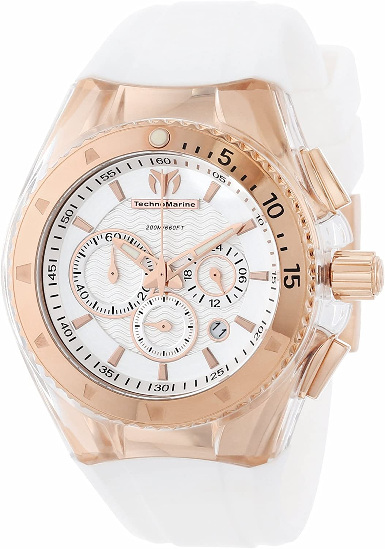 TechnoMarine Unisex 110047 Cruise Original Star Chronograph Silver Dial Watch