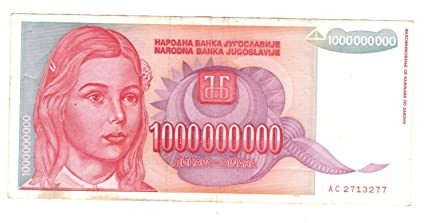 Hyperinflation 1000 million dinar of yugoslav government amazon hyperinflation 1000 million dinar of yugoslav government m4hsunfo