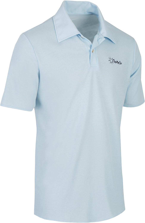 TanMeOn Camiseta Polo de Bronceado para Hombres recibe Bronceado ...