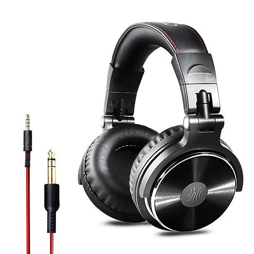 OneOdio Auriculares para oídos, Audífonos cerrados DJ Studio, sin adaptador, Auriculares con cable aislador de ruido (Acabado satinado): Amazon.es: ...