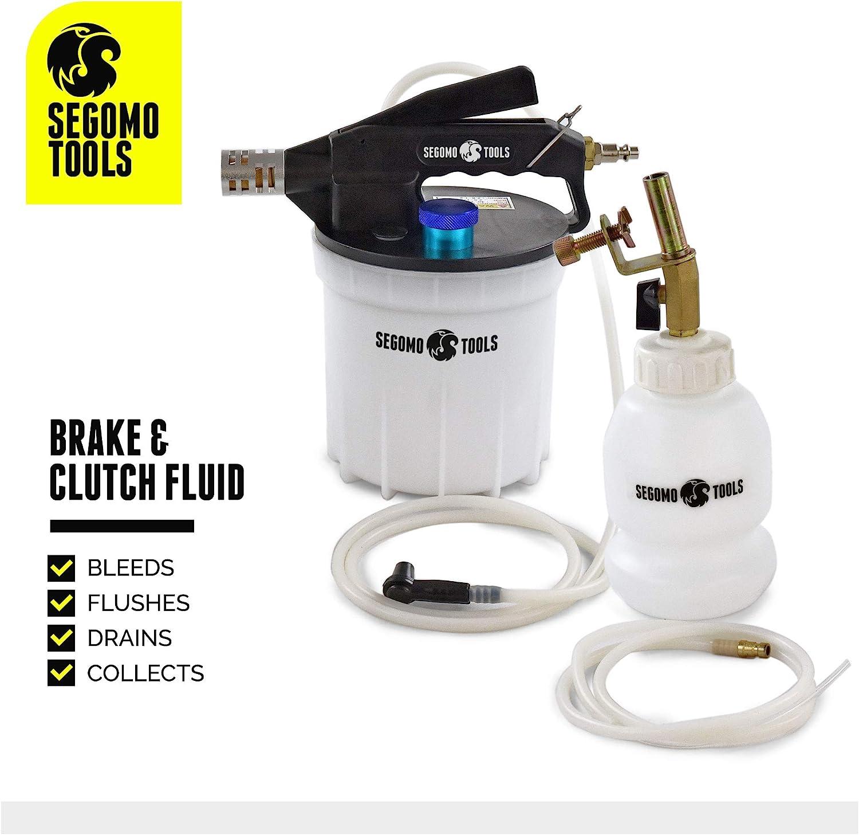 VBB01 Segomo Tools 2 Liter Standard /& ABS Vacuum Brake /& Clutch Bleeder Fluid Extractor Pump Kit
