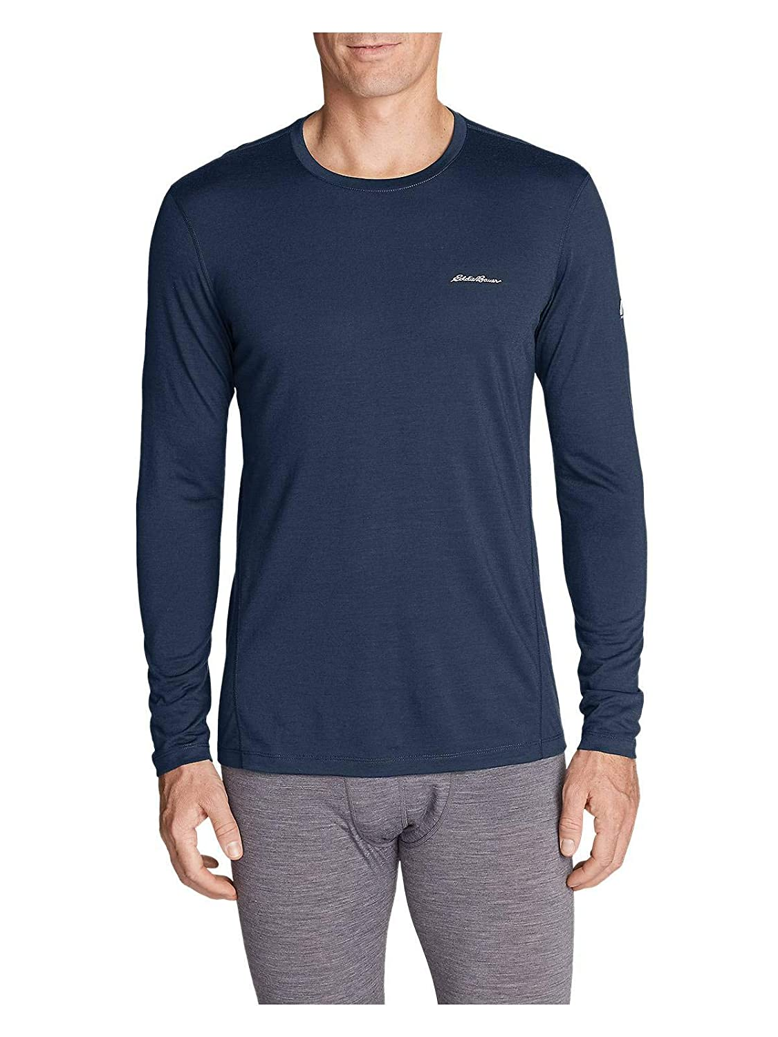 Eddie Bauer Mens Midweight FreeDry Merino Hybrid Baselayer Long-Sleeve Crew 12950402