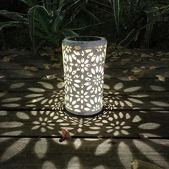 Demiawaking - Farol solar para jardín al aire libre, LED, lámpara ...