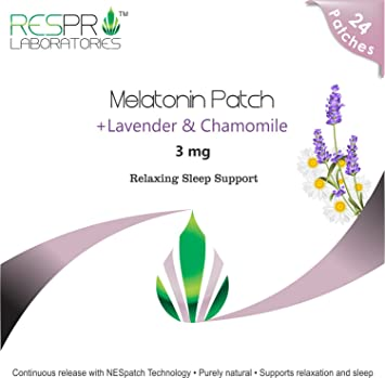 Respro Labs Natural Melatonin (3 mg) Relaxing Sleep Support Patch with Soothing Lavender,