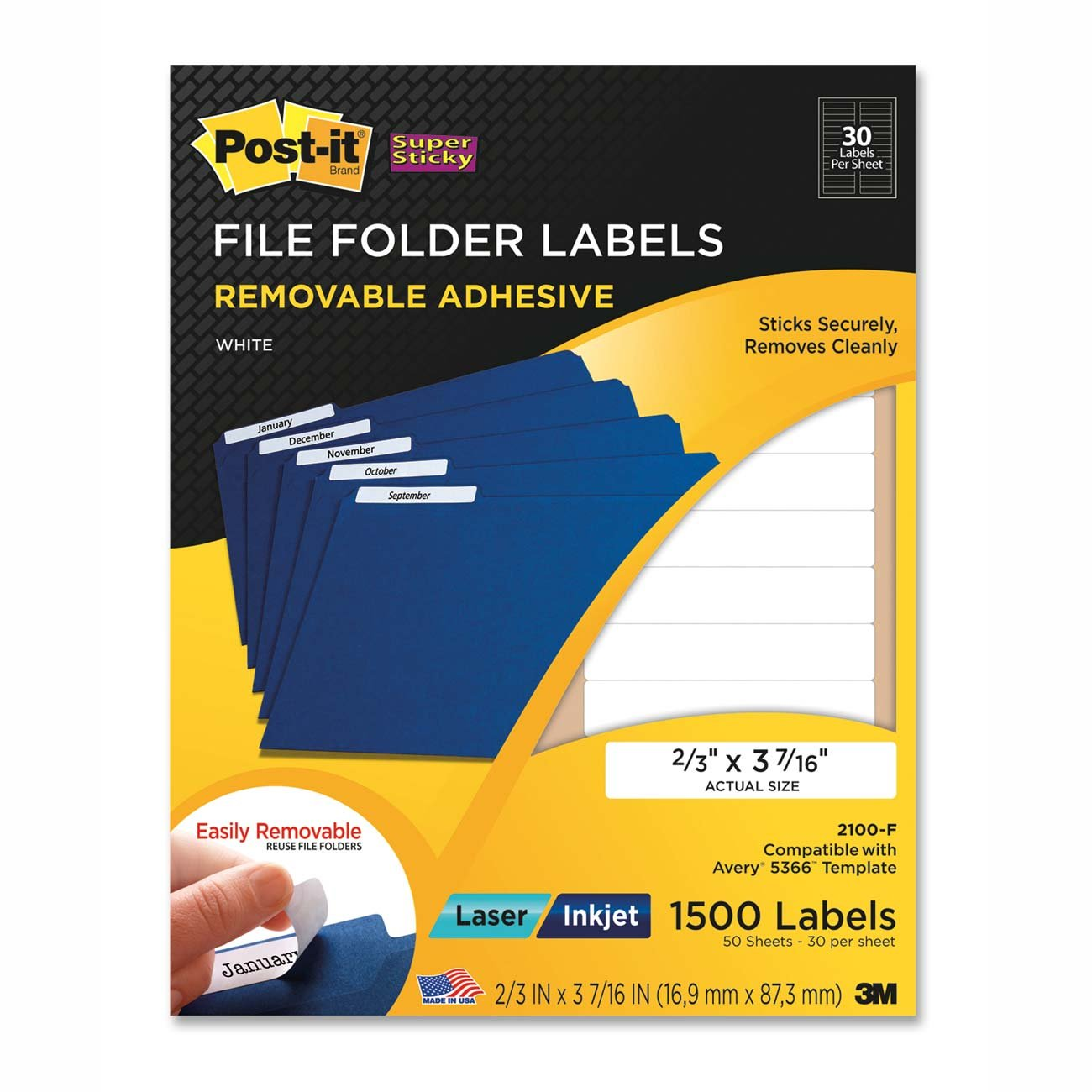 avery 5366 file folder labels