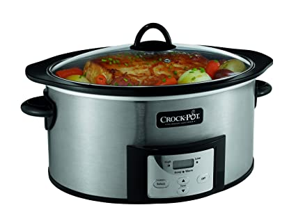 Crock-Pot 6-Quart Countdown Programmable Oval best Slow Cooker with Stove