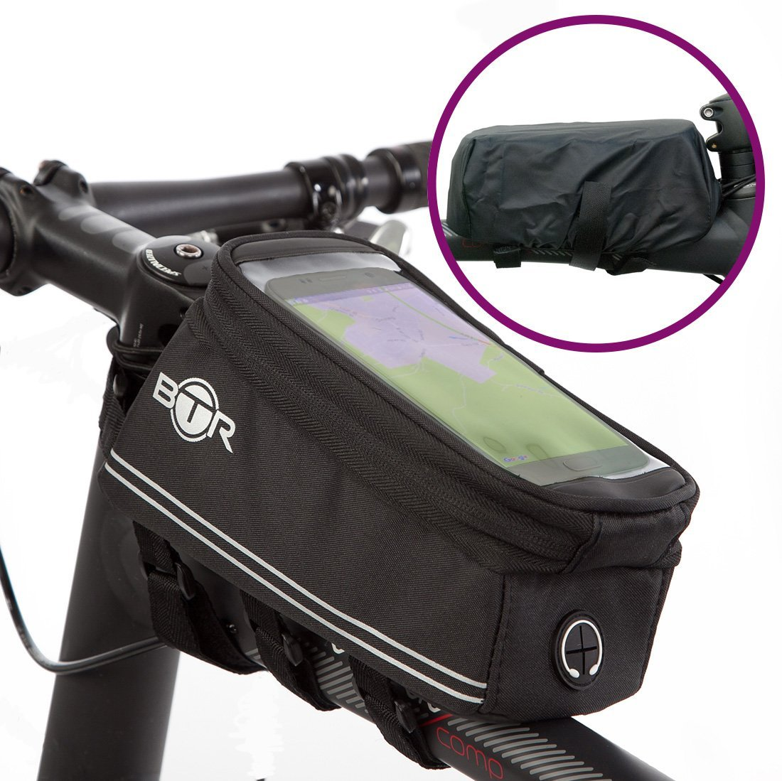 BTR Bike Handy Halter Tasche Bike - Wasserdicht Fahrrad Rahmen ...