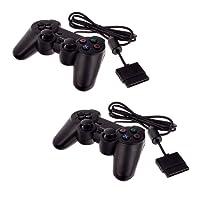 2x Smartfox Gamepad Controller Joypad Dual Vibration für Sony Playstation 2 PS2 in schwarz