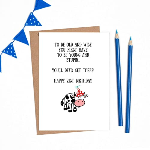 Funny 21st Birthday Card For Her 1 X A6 Card 300gsm With Quality