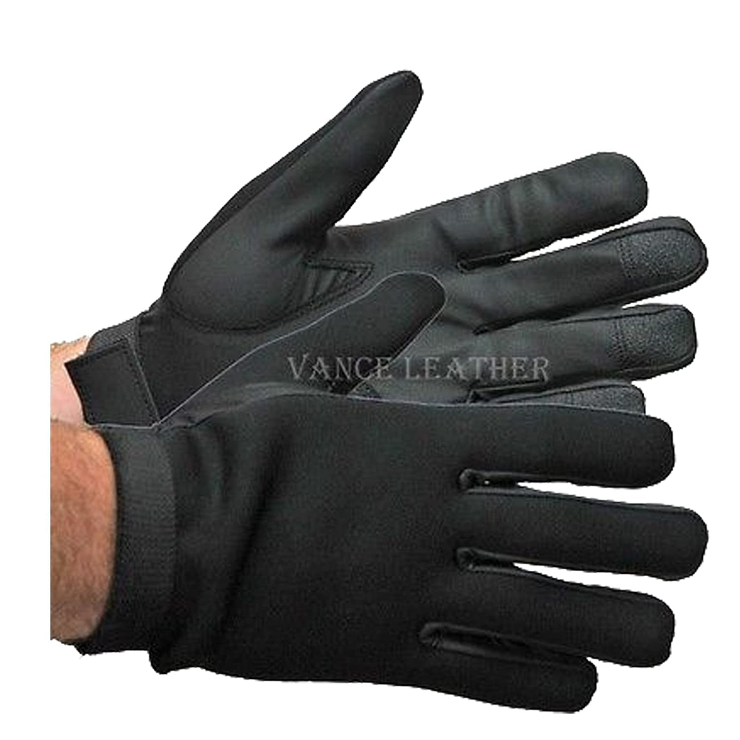 Motorcycle Riding Neoprene Tactical Gel Palm Light Weight Textile Gloves Mens