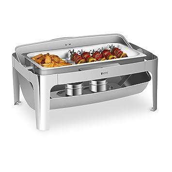 Royal Catering Chafing Dish Rolltop Bandeja Calentadora Plato de Buffet RCCD-RT9L (Acero inox
