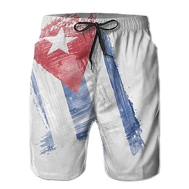 Pantalones Cortos de Verano para Mujer dise/ño de Bandera de Cuba