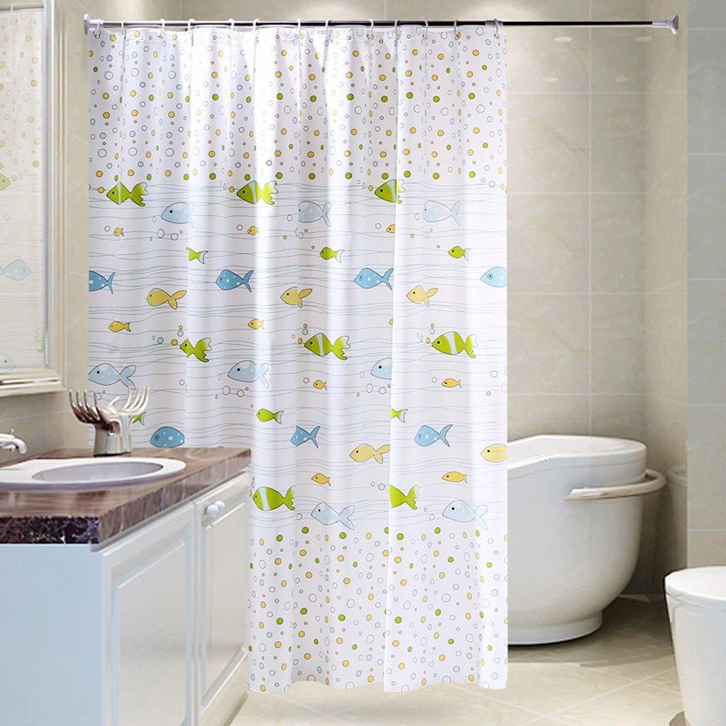 Curtain Bathroom Shower Curtain, Waterproof Shower Curtain, Mildew Shower Curtain, Bathroom Shower Curtain Shower Equipment (Size : 180200cm)