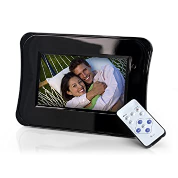 Gear Head 7-Inch Digital Photo Frame w/Remote (Piano Black)
