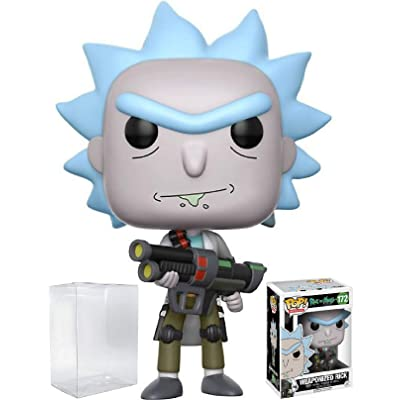 RICK AND MORTY Funko Pop! Animation Weaponized Rick Vinyl Figure (Bundled with Pop Box Protector CASE): Toys & Games [5Bkhe0402296]