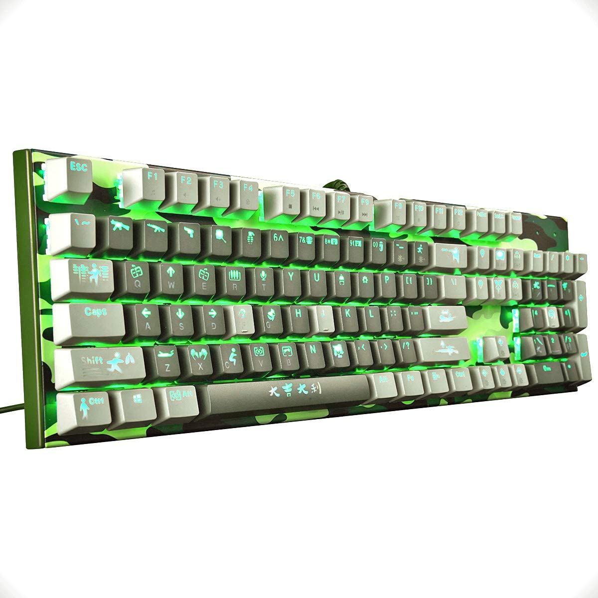 Holiday/Sale/deep 56/%/Off Merdia Mechanical Keyboard Gaming Keyboard with Brown Switch Wired 6 Colors Led Backlit Keyboard Full Size 104 Keys US Layout